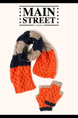 Parade Accessory Set in Main Street Yarns Shiny & Soft - Downloadable PDF