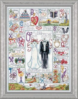 Design Works Wedding ABC Cross Stitch Kit - 38cm x 51cm