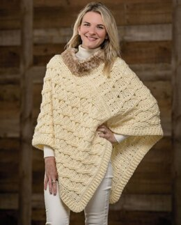 Lattice Cabled Poncho