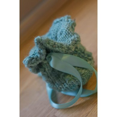 Whimsical Drawstring Bag Or Pacifier Carrier Knitting Pattern By