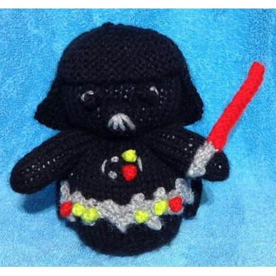 Star Wars Darth Vader Choc Orange Cover Toy Knitting Pattern By