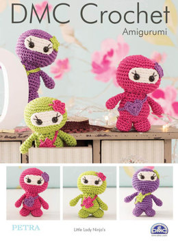 Little Lady Ninjas in DMC Petra Crochet Cotton Perle No. 3 and Natura Just Cotton - 15324L/2