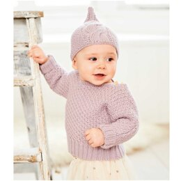 Baby's Sweater, Leggings and Hat in Rico Baby Dream Luxury Touch Uni DK - 1041 - Downloadable PDF