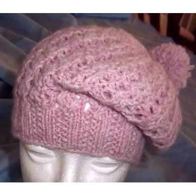 Ribby Lacy Slouchy Hat