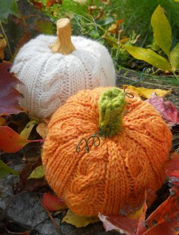 Cable Stitch Pumpkin