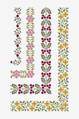 Ancient Floral Borders in DMC - PAT0721 -  Downloadable PDF