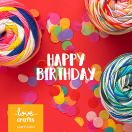 LoveCrafts eGift Card - Happy Birthday 1