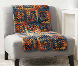 Square Deal Blanket in Caron Simply Soft Stripes - Downloadable PDF