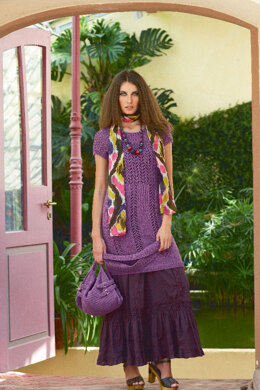 Lace Dress with Round Yoke in Schachenmayr Sun City - 6635 - Downloadable PDF