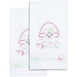 Jack Dempsey Stamped Decorative Hand Towel Pair - Easter