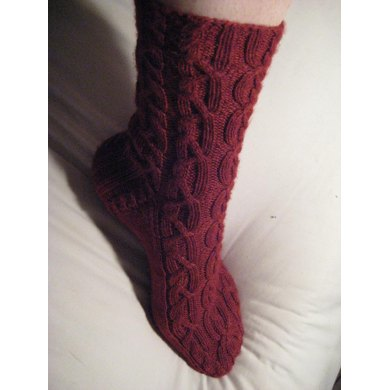 Cranberry Cable Socks