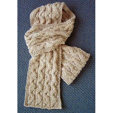 Open and Folds Cabled Scarf