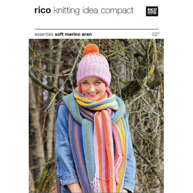 Cap and Scarf in Rico in Essentials Soft Merino Aran - 027 Knitting Pattern...