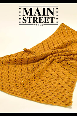 Barbara Blanket in Main Street Yarns Shiny + Soft - Downloadable PDF