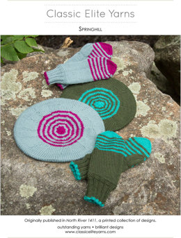 Springhill Hats and Mittens in Classic Elite Yarns Color by Kristin - Downloadable PDF
