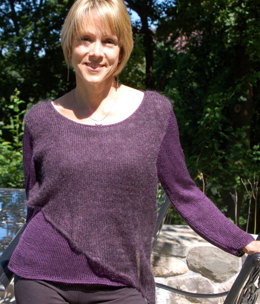 Layered Top in Artyarns Silk Pearl and Silk Mohair - I205