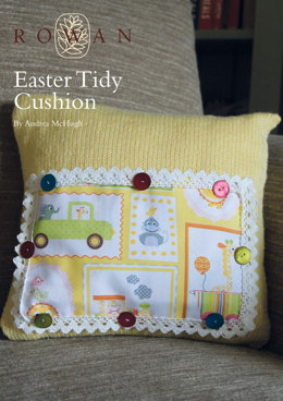 Easter Tidy Cushion in Rowan Baby Merino Silk DK
