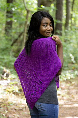 Halfway Home Shawl in Universal Yarn Finn - Downloadable PDF