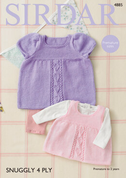 Dress & Pinafore in Sirdar Snuggly 4Ply - 4885 - Downloadable PDF