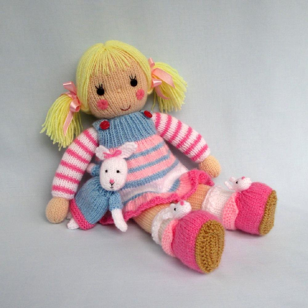 23588414bae817 Betsy and her Bunny - Doll knitting pattern. AddThis Sharing Buttons. Share  to Pinterest Share to Facebook Share to Email Share to More. Save