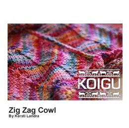 Zig Zag Cowl in Koigu Kersti - Downloadable PDF