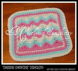Chasing Chevrons Dishcloth