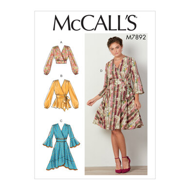McCall's Misses' Tops and Dresses M7892 - Sewing Pattern