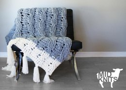 Reversible Cable Throw Blanket
