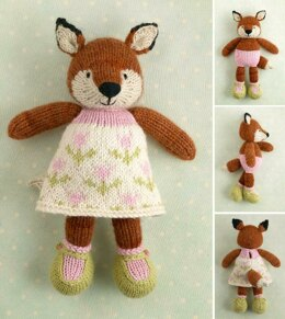 Girl fox in a flowery frock