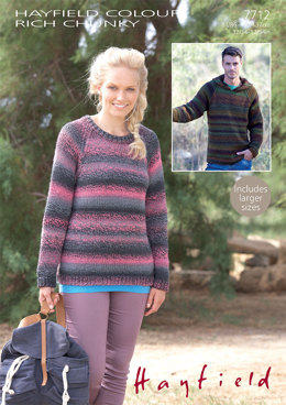 Sweaters in Hayfield Colour Rich Chunky - 7712 - Downloadable PDF