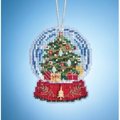 Mill Hill Charmed Snow Globes - Christmas Tree Globe - 2.5inx3.25in