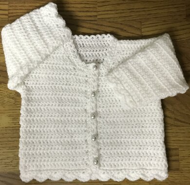 Easy Round Neck Crochet Cardigan Pattern For Baby or Child