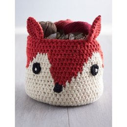 Foxy Stash Basket in Lily Sugar 'n Cream Solids