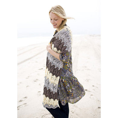 Island Shawl in Lion Brand Cotton-Ease - 90415AD
