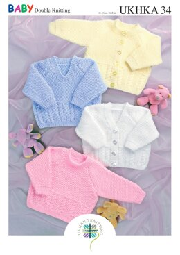 Sweaters and Cardigans in King Cole Baby DK - UKHKA34pdf - Downloadable PDF