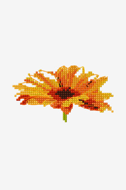Gerbera Flower in DMC - PAT0865 - Downloadable PDF