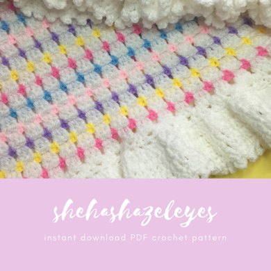 Block Stitch Blanket Crochet Pattern By Shehashazeleyes