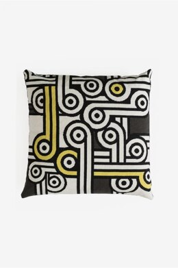 DMC The Big Chill Giant Tapestry Cushion - Monochrome Jazz