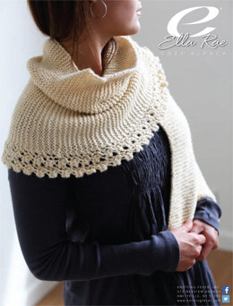 Garter Stitch & Lace Wrap Cozy Alpaca in Ella Rae - ER11-04 - Downloadable PDF