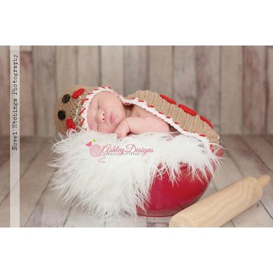 Gingerbread Baby Cape Set
