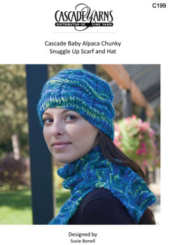 Snuggle Up Hat & Scarf in Cascade Baby Alpaca Chunky - C199