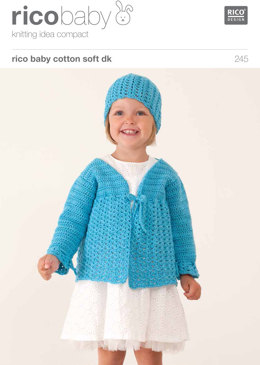 Lacy Cardigan/Lacy Hat in Rico Baby Cotton Soft DK - 245