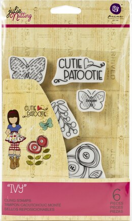 Prima Marketing Julie Nutting Mixed Media Cling Rubber Stamp - Ivy