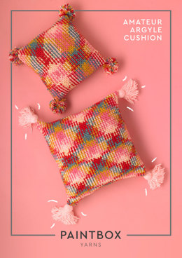 Amateur Argyle Cushion - Free Crochet Pattern For Home in Paintbox Yarns Chunky Pots