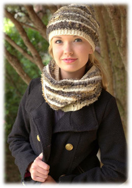Hat and Cowl in Plymouth Yarn Spago and Worsted Merino Superwash - 2700 - Downloadable PDF