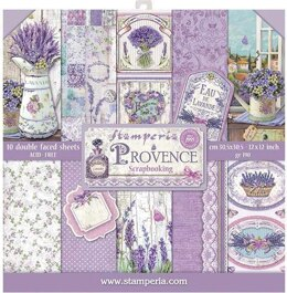 """Stamperia Intl Stamperia Double-Sided Paper Pad 12""""X12"""" 10/Pkg - Provence, 10 Designs/1 Each"""