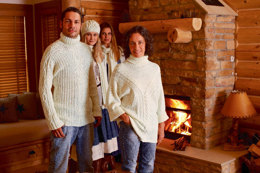 Roll Neck Sweater in Schachenmayr Universa - S6925A - Downloadable PDF