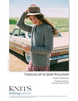 Tangled Up in Gray Pullover in Hudson Valley Fibers Hudson - Downloadable PDF