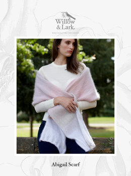 Abigail Scarf in Willow & Lark Plume - Downloadable PDF