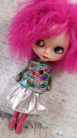 "Super Simple Square sweater for 12"" Blythe doll"
